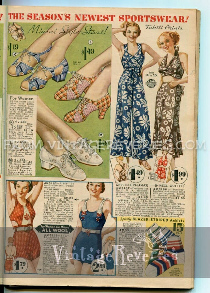 1935 Wool Bathing Suits, Women's Sportswear, and Mens' Underwear…