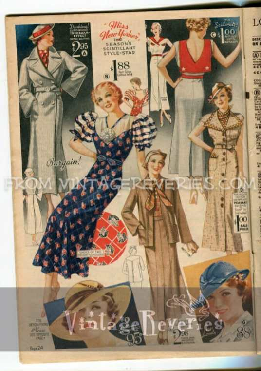 summer dress fashions 1930s