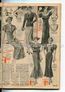 1935 fashion advertisement