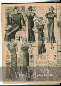 1930s womens dress ads