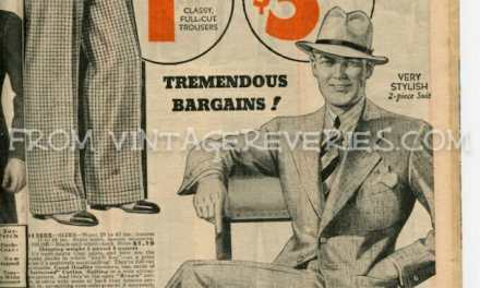 1935 Boys and Mens Fashions – hats, suits, shirts, pants…