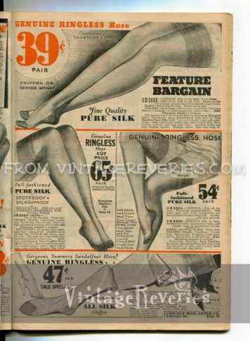 1930s stockings advertisements