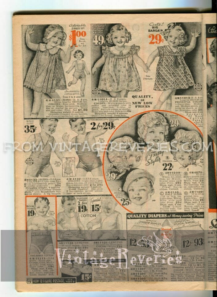 1930s childrens clothes for boys and girls