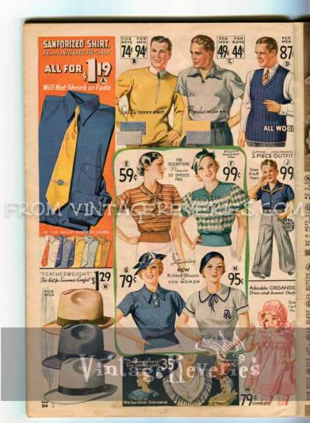little girl and boy fashions from 1935