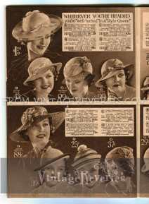 Womens hat fashions 1930s