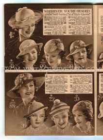 Womens hat fashions 1930s