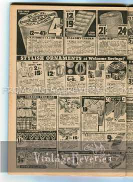 1930s sewing notions, button advertisements and styles