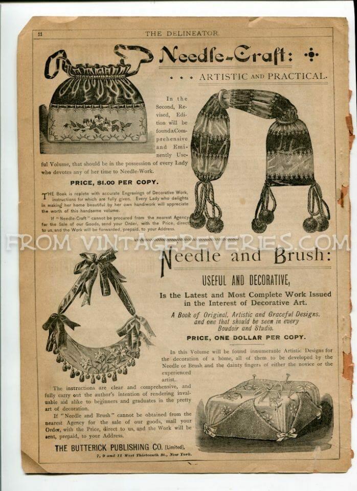 1890s needlework pattern advertisement