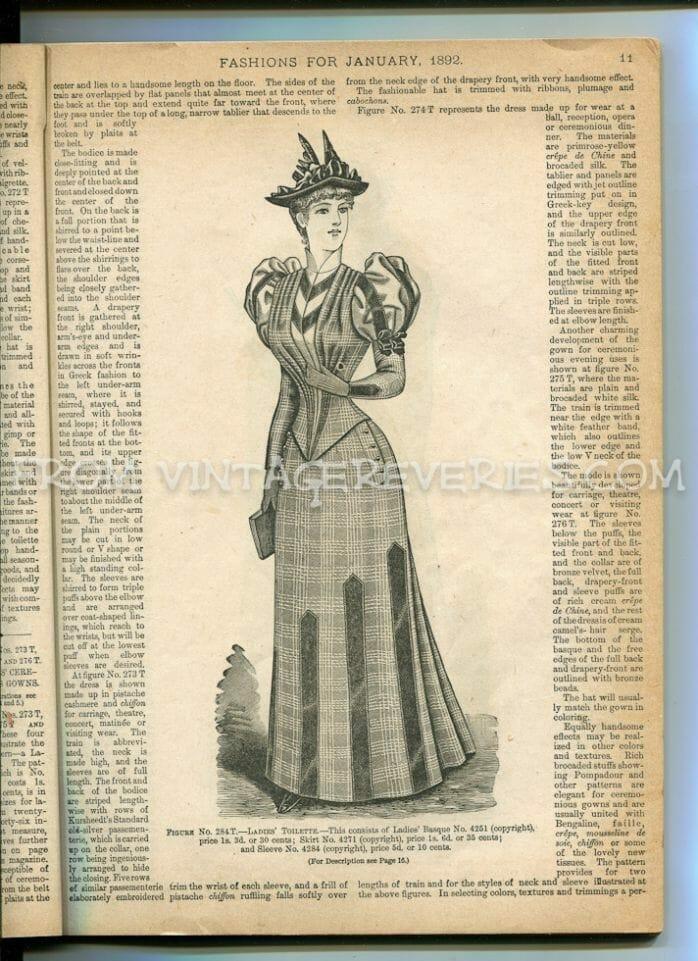 1890s fashion magazine scan