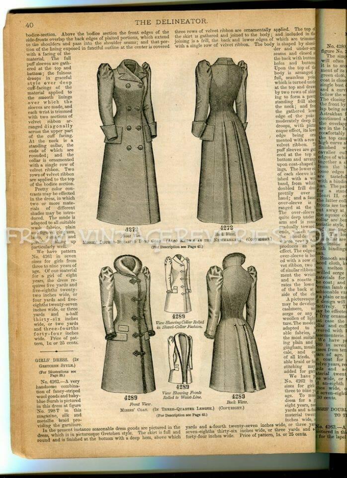 1890s girls coats