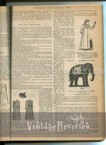 victorian doll fashions and toy elephant