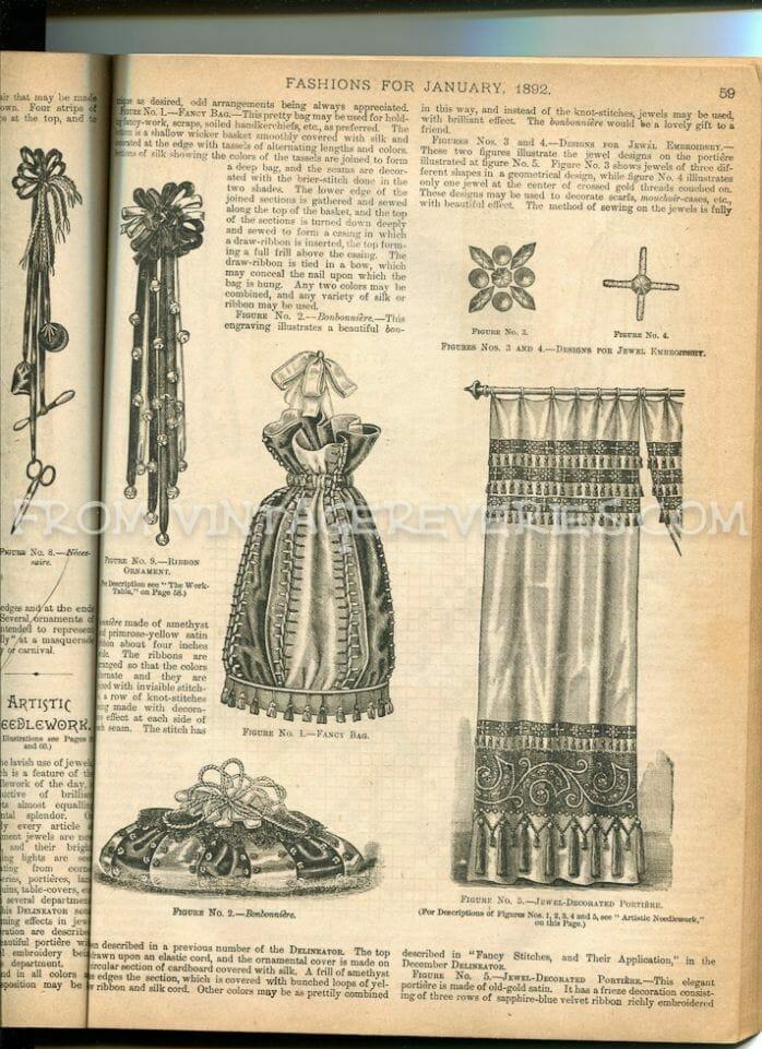 1890s drapery fashions