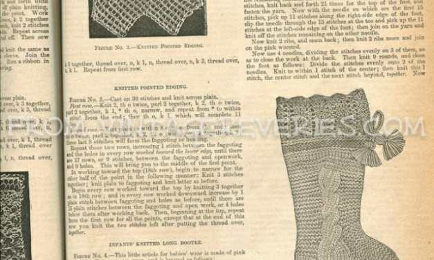 Victorian Crochet, Knit, and Lace Making Patterns