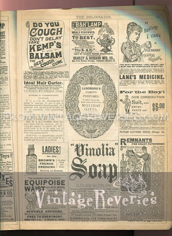 victorian perfume ad