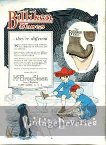 Billiken Shoe company ad from the 1920s