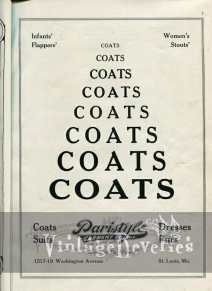 Paristyle coat company ad 1920s
