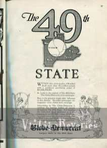 St. Louis Globe Democrat advertisement 1920s