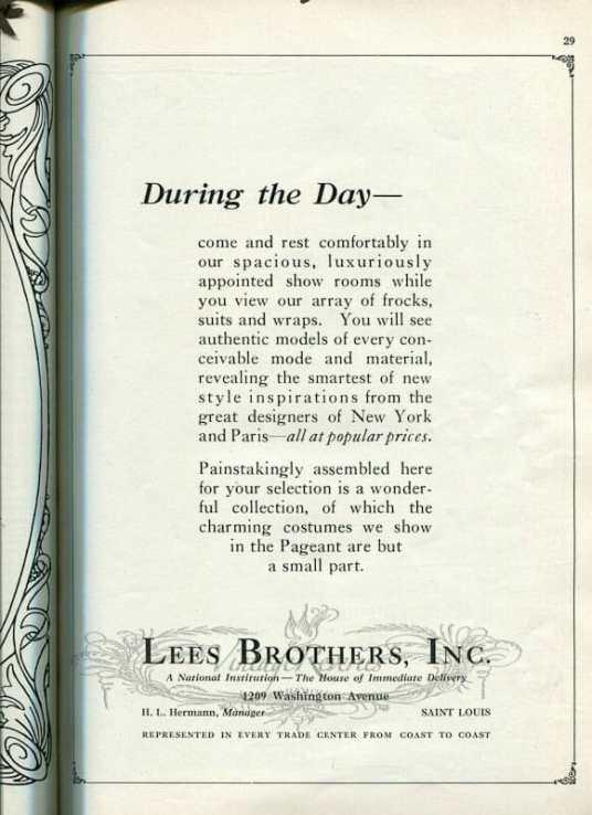 1924 fashion advertisement st louis