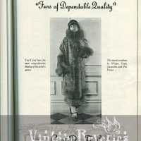 1920s Fur Coat Fashion Advertisements