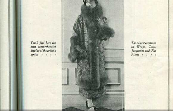 1920s Fur Coat Fashion Advertisements