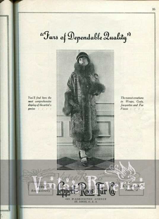 1920s fur coat fashion