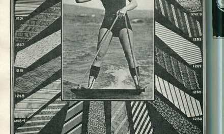 1924 Girl in a Swimsuit and Skirt Fashions