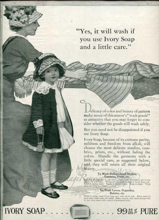 Ivory Soap advertisement vintage 1913