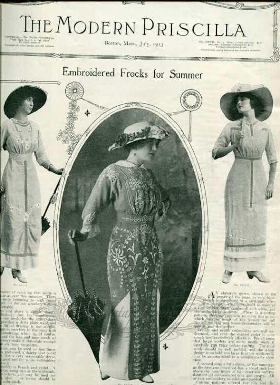 Edwardian summer fashions
