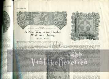 how to make darned lace with punchwork