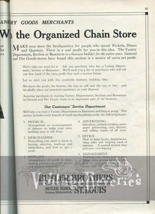 1924 wholesale advertisement