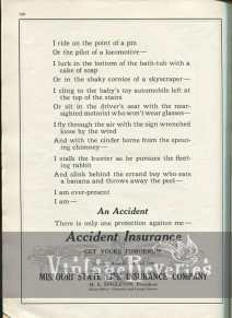 1920s insurance advertisement