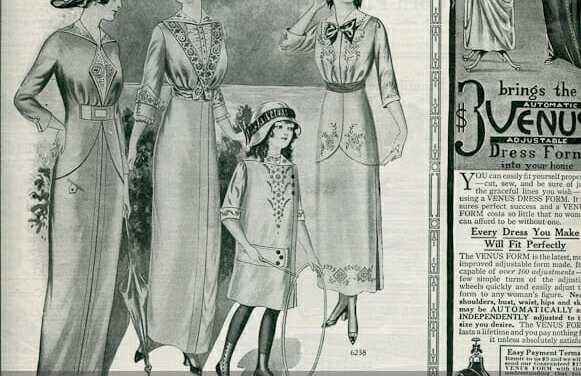 Early 1900s Summer Fashion Illustrations