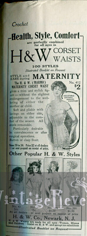 Maternity Corset Ads and Cooking Ideas