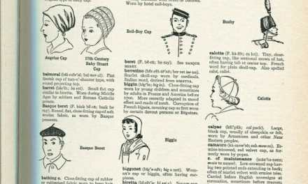 Different Types of Caps and Capes Illustrated- from The Language of Fashion
