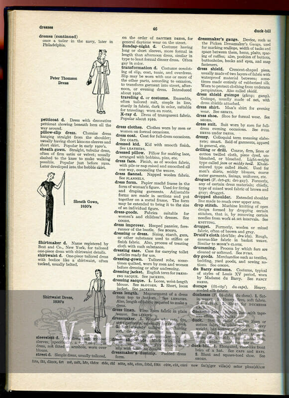 Décolletage, dots, dresses, and other fashion definitions