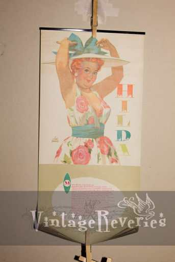 1958 pinup calendar