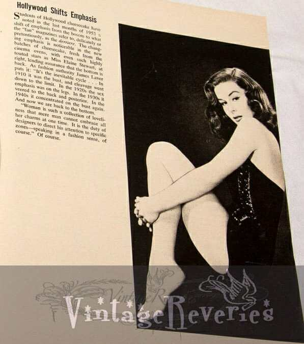 Bustlines and Derriers in Pinup History