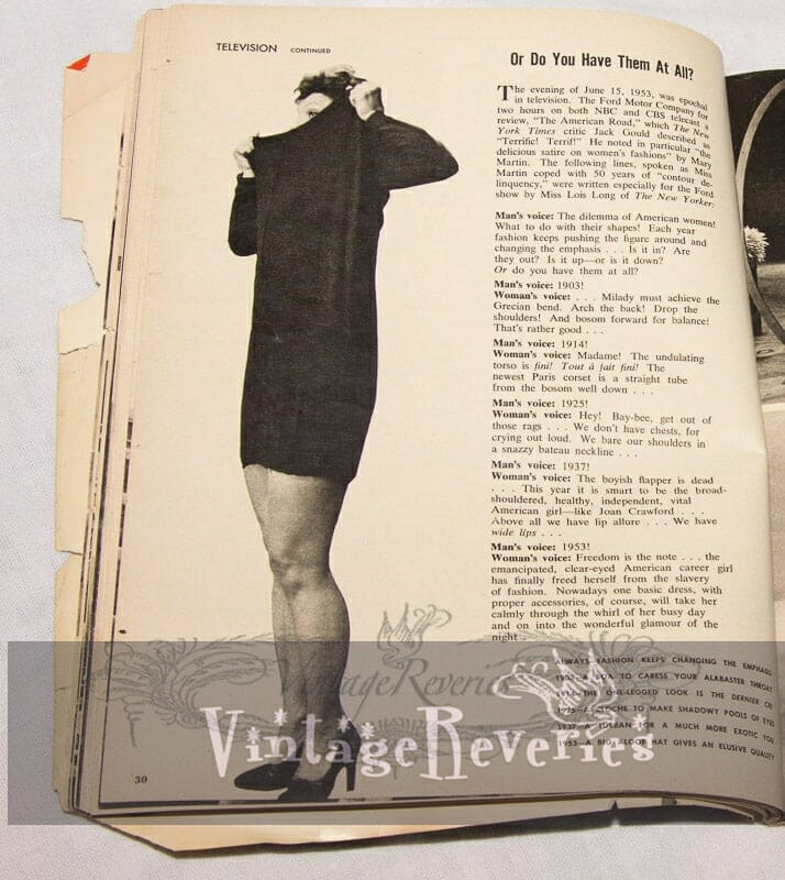 Women's Fashion Trends in the first half of the 20th Century, and Women in TV commercials