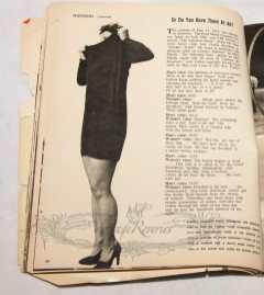 television fashion skit 1950s