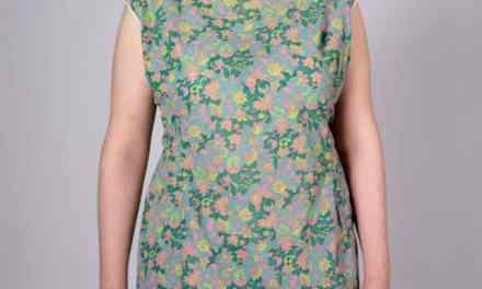 Green Paisley Summer Sheath Dress – Curvy, XL, lightweight and cool.