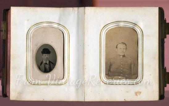 civil war solder photo album