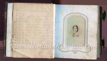 civil war photo album scan