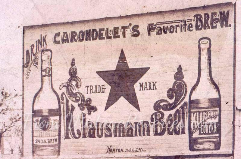 old beer advertisement