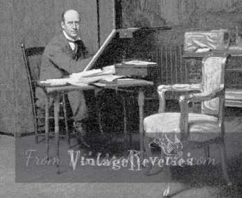 photograph of charles dana gibson at work