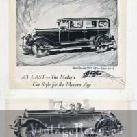 Six 1920s Chrysler car advertisements