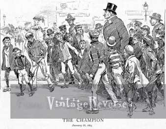 the champion - cartoon by charles gibson