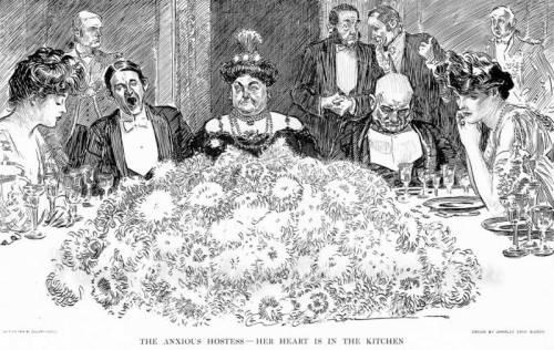 the hostess- charles gibson cartoon