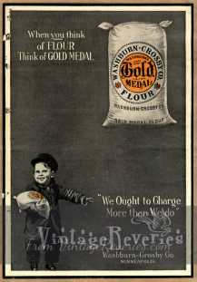 early 1900s gold metal ad