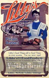 turn of the century Libby's food ad