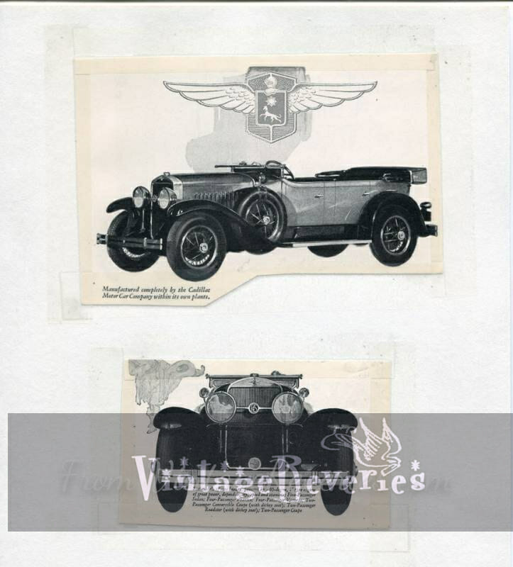Old Cadillac Lasalle Ads
